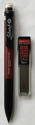 NEW 1.8mm Mechanical Pencil with FREE 6x 1.8mm Rectangular Leads