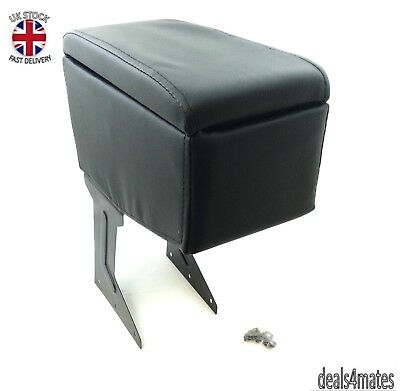 Universal Armrest Arm Rest Black Caravan Bus Van Car Front & Back Cup Holders