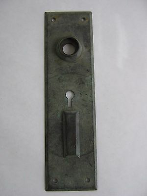 "Vintage Brass Door Plate Hardware Great Patina 7 9/32"" L x 2"" W Swivel key cover"