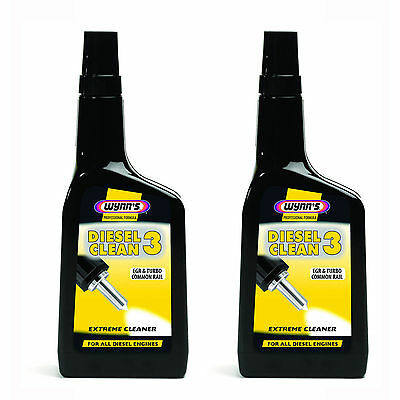 Wynns Diesel Clean 3 EGR And Turbo Common Rail Extreme Cleaner 500ml X 2