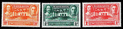 1939 Barbados #202-204 300Th Ann. Of Gen. Assembly - Ogvlh - Vf - $6.30 (E#9770)