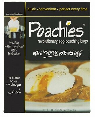 Poachies ~ Egg Poaching Bags ~ Packs Of 20 Healthy Water Poached Eggs In Mins
