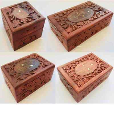 Memorial Keepsake Remembrance Wooden Box Pet Cremation Ash Ashes Casket Urn