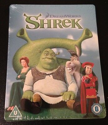 SHREK Blu-Ray SteelBook Zavvi UK Exclusive Limited Ed. Region Free. New OOP Rare