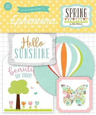 "Echo Park ""spring"" Ephemera Die Cut Pack  (33 Pieces) Scrapjack's Place"