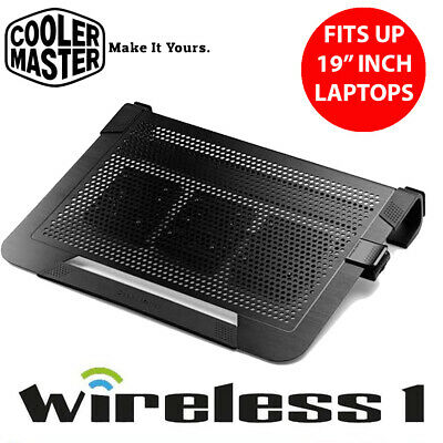Cooler Master Notepal U3 Plus Black Movable Fan Aluminium Cooling Pad ( Fits Up