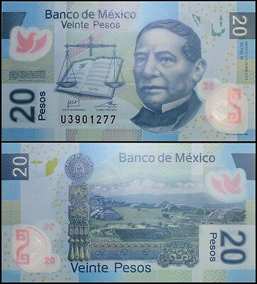We Combine Mexico banknote P VF or Better 106d 20 Pesos 23.4.1999