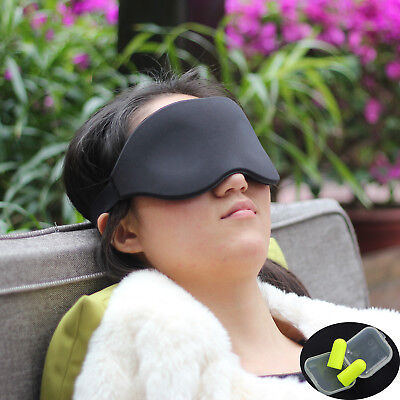 Travel Sleep Eye Mask 3D Memory Foam Padded Shade Sleeping Blindfold Ear Plugs