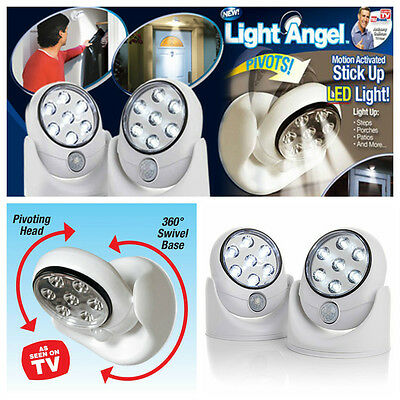 Pathway Stair Light Angel PIR Motion Activated Sensor Stick Up 7 LED Cordless