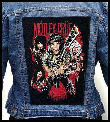 #LIMITED#  MOTLEY CRUE  --- Giant Backpatch Back Patch