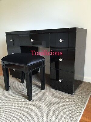 7 Drawers Mirrored Makeup Vanity Table/Dressing Table - Console Mirror Furniture