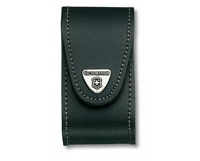Victorinox Black Leather Pouch 4.0521.3 Case Swiss Army Folding Knife