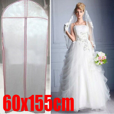 """Breathable Bridal Wedding Dress Gown Garment Cover Storage Bag Protector 72"""" Zip"""