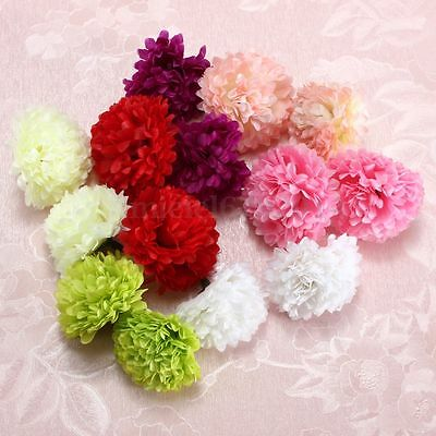 1/2/3x 10Pcs Artificial Silk Daisy Flowers Heads Fake Home Wedding Party Decor