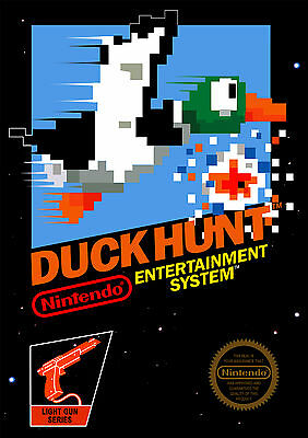 Stickers Autocollant Transpar Poster A4 Affiche Video Games Nintendo Duck Hunt.