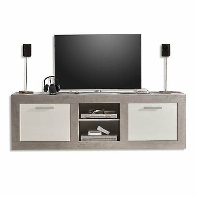 roller tv lowboard pure wei hochglanz beton 210x69 cm. Black Bedroom Furniture Sets. Home Design Ideas