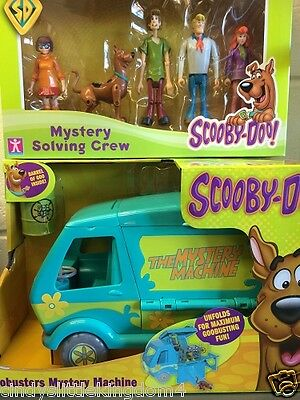 New Scooby Doo Goobusters Mystery Machine & 5 pack solving crew figures set 3+