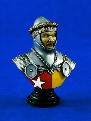 VERLINDEN 1326 - RICHARD DE VERE EARL OF OXFORD BUST - 200mm RESIN KIT NUOVO