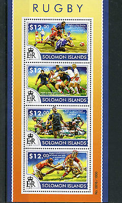 Solomon Islands 2015 MNH Rugby 4v M/S Sports
