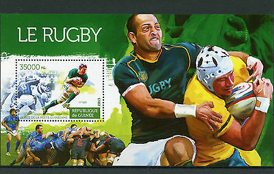 Guinea 2015 MNH Rugby 1v S/S Sports