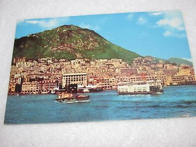 Vintage Water Front Hong Kong Kowloon Unused Mint Postcard Post Card