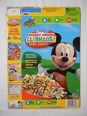2007 General Mills Disney's Mickey Mouse Clubhouse Berry Crunch Cereal Box