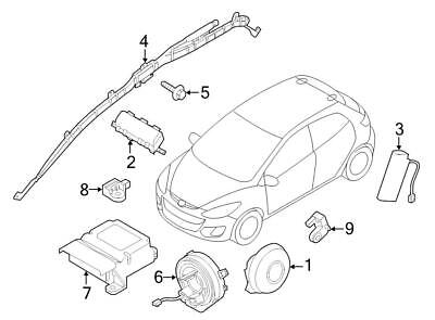 New Oem Air Bag Wiring Harness Side Impact new oem air bag wiring harness side impact crash sensor mazda 2