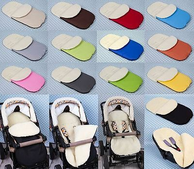 Universal Footmuff FITS FOR All Models. Pram / Pushchair. Ecological wool