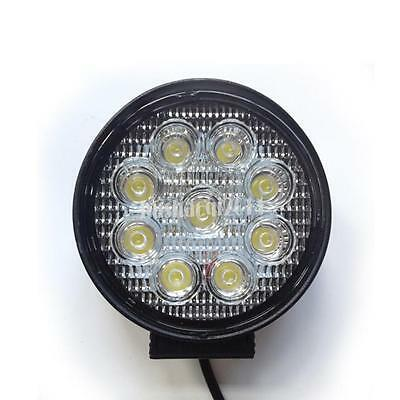 Faretto Tondo / Quadrato 9 Led Auto Flood 27W 12V Luce Fredda 6000K Faro Jeep