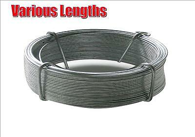 Galvanised Wire Heavy Duty Metal Fencing Wire Outdoor Various Lengths 30Ft-300Ft