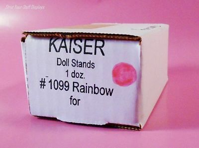 """1 Dozen MINI DOLL STANDS Kaiser #1099 PINK 3.5""""- 5"""" tall.  KELLY,TOMMY + Others"""
