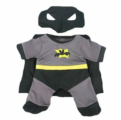 "BATMAN BAT BEAR OUTFIT - 16""/40cm TEDDY BEAR CLOTHES & BUILD YOUR OWN BEAR"