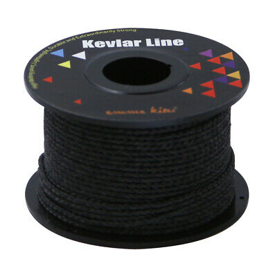 30.4m 500lb Black Braided Kevlar Line for Outdoor Tactical Survival Cord Rescue