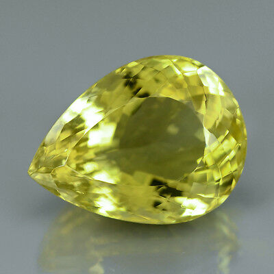 35.54 ct. VVS!  Toller 25 x 18.8 mm Brasilien Lemon Citrin Quarz Tropfen