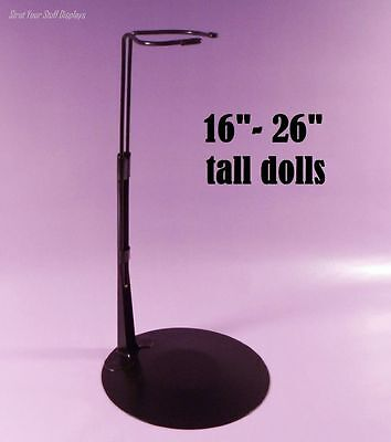 """1 DOLL STAND Kaiser #3075 BLACK.Fits 16""""- 26"""" tall M.ALEXANDER, TODDLERS by Corr"""