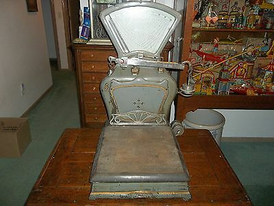 Beautiful Old Vintage Detroit Automatic General Store Scale Steampunk Antique !!