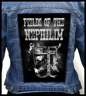 FIELDS OF THE NEPHILIM   --- Giant Backpatch Back Patch / Bauhaus The Mission