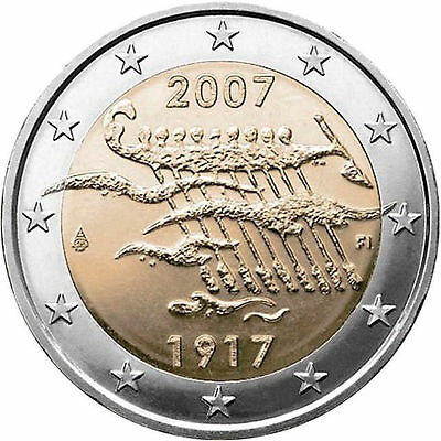 """Finland 2 euro coin 2007 """"Finland's Independence"""" UNC"""