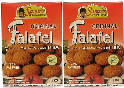 Samir's Bulk 2kg FALAFEL MIX, Vegan, 97% Fat Free, Made in Australia, Quick Easy