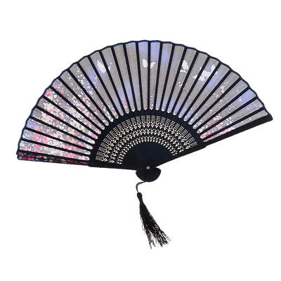Vintage Sakura Flower Japanese Bridal Dancing Party Summer Folding Hand Fan
