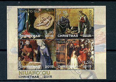Niuafo'ou Tonga 2015 MNH Christmas Nativity Paintings 4v M/S Ghirlandaio Art