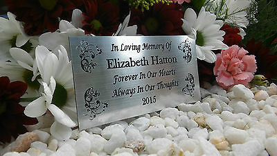 Personalised Engraved Bench Memorial Plaque Mum/Dad/Nan 10X5Cm Silver (A21)