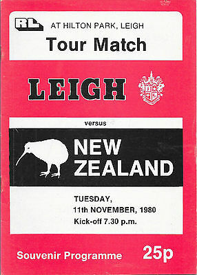 1980 - Leigh v New Zealand, Touring Programme