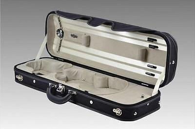 Negri Venezia Violin Case 4/4 Full Size Oblong Black & Beige **NEW**