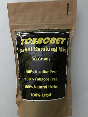 HERBAL SMOKING MIX TOBACNET 100% Nicotine & Tar Free, 100% Natural herbs, 30gram