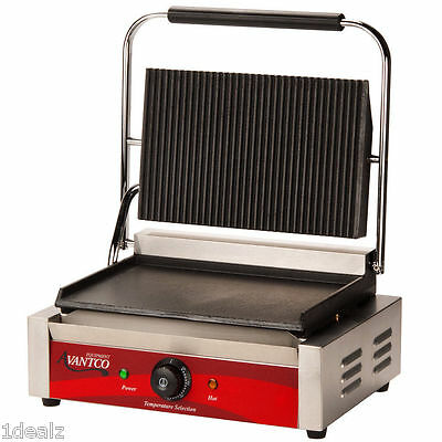 Avantco P75SG Grooved Top Commercial Panini Sandwich Grill with Rebate $10