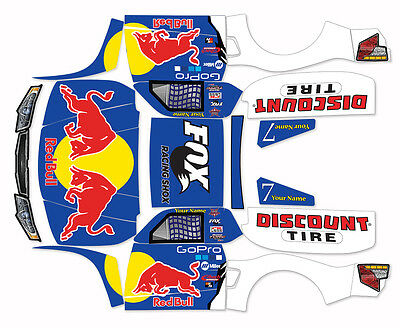 LOSI 5IVE T 4WD TRUCK WRAP GRAPHIC DECAL STICKER - Bryce Menzies Kit Red Bull