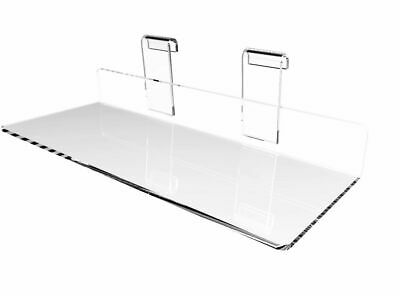"Gridwall Grid Panel 4""x10"" Flat Clear Plexiglass Acrylic Shoe Shelf 15567"