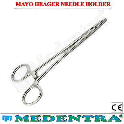 Surgical Suturing Locking Forceps For Pet Grooming Veterinary Longer Handle 15cm