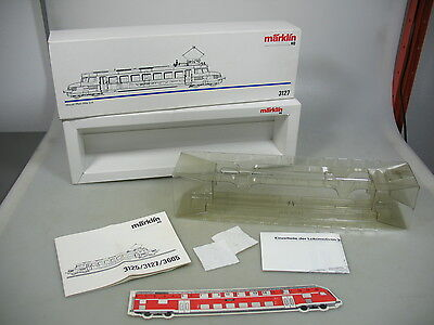 AD436-0,5# Märklin H0 Empty box+Manual for Blue Arrow Rbe 2/4; 3127 vg